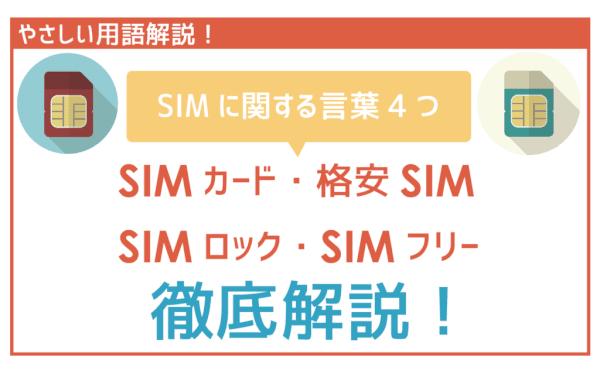 【初心者向け】SIMカード・格安SIMスマホ・SIMロック・SIMフリーを徹底解説!