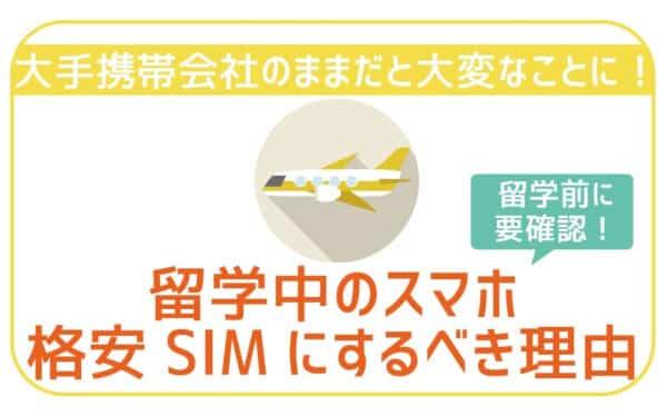 【実体験】留学・海外転勤前に格安SIM(スマホ)にしておかないと大損。対処法をご紹介。