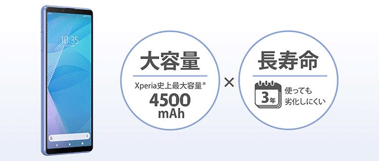 Xperia 10 IIIは大容量バッテリー